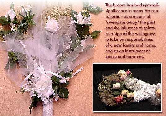 Bridal Brooms - decorated to the bride's individual taste, or choose one or more of our beautifully pre-decorated colors and styles such as white, cream, fresh or silk flowers, etc...